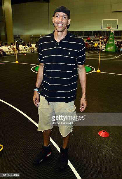 Former NBA player Doug Christie attends the Sprite Court during the 2014 BET Experience At LA LIVE on June 29 2014 in Los Angeles California