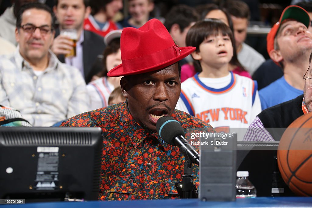 Former NBA player Felipe Lopez commentates during a game between the Indiana Pacers and New York Knicks on March 7, 2015 at Madison Square Garden in New York City.