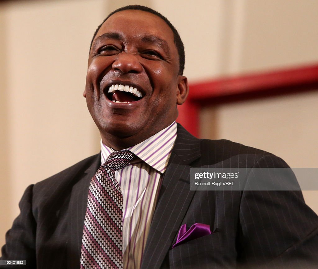 Former NBA player Isiah Thomas attends NBAPA All-Star Youth Summit: Real Talk on February 13, 2015 in New York City.