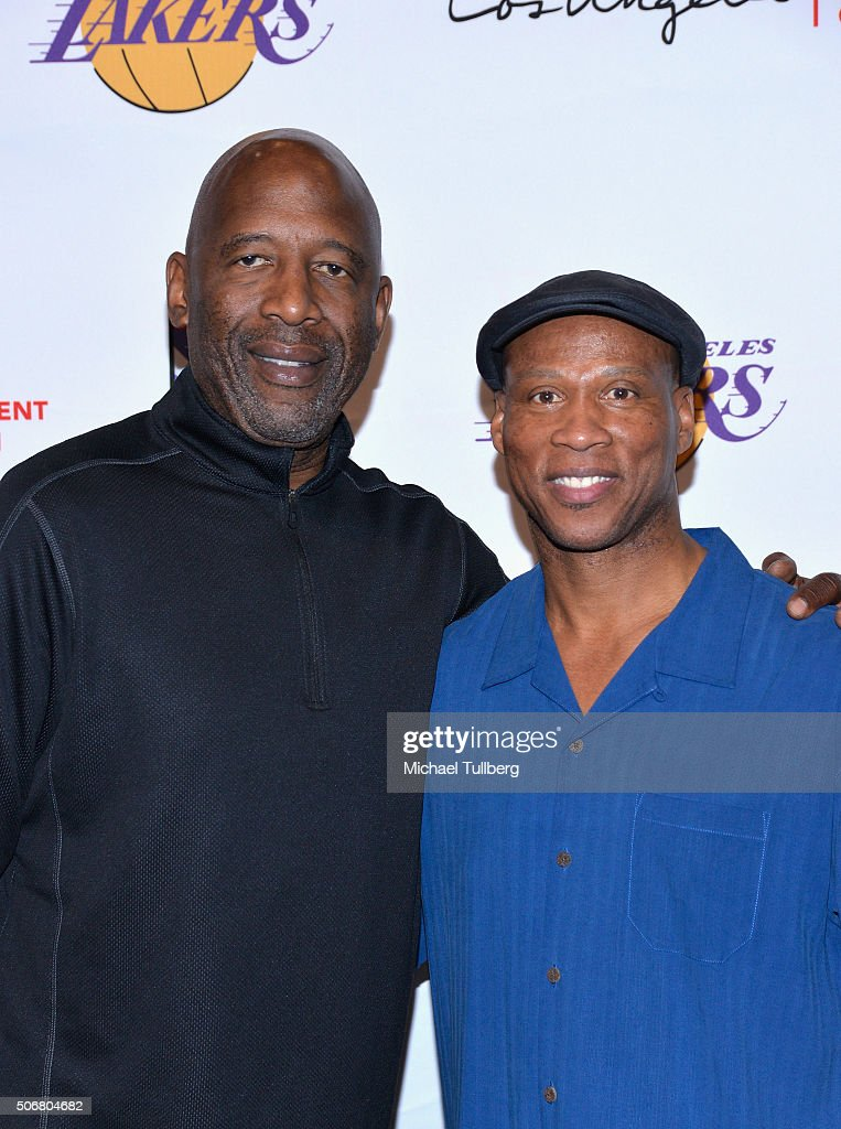 Former NBA player <a gi-track='captionPersonalityLinkClicked' href=/galleries/search?phrase=James+Worthy&family=editorial&specificpeople=212863 ng-click='$event.stopPropagation()'>James Worthy</a> and Los Angeles Lakers head coach <a gi-track='captionPersonalityLinkClicked' href=/galleries/search?phrase=Byron+Scott+-+Basketbalcoach&family=editorial&specificpeople=209087 ng-click='$event.stopPropagation()'>Byron Scott</a> attend the 12th Annual Lakers All-Access Event at Staples Center on January 25, 2016 in Los Angeles, California.
