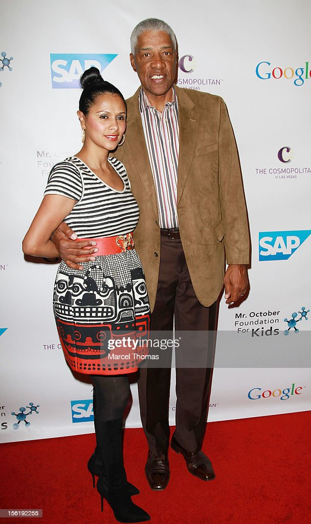 Former NBA player Julius 'Dr J' Erving and wife <a gi-track='captionPersonalityLinkClicked' href=/galleries/search?phrase=Dorys+Erving&family=editorial&specificpeople=648039 ng-click='$event.stopPropagation()'>Dorys Erving</a> attend the 8th All Star Celebrity Classic benefiting the Mr October Foundation for Kids at Cosmopolitan Hotel on November 11, 2012 in Las Vegas, Nevada.