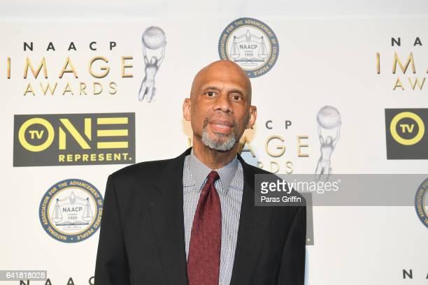 Former NBA player Kareem Abdul Jabbar attends 48th NAACP Image Dinner at Pasadena Convention Center on February 10 2017 in Pasadena California