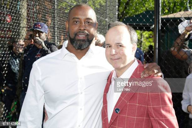 Former NBA player Kenny Anderson and Producer Barry Greenstein attend the MR CHIBBS Opening Night screening at the West Fourth Street Courts on May 3...