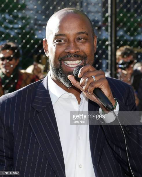 Former NBA player Kenny Anderson discusses his film during the MR CHIBBS Opening Night screening at the West Fourth Street Courts on May 3 2017 in...