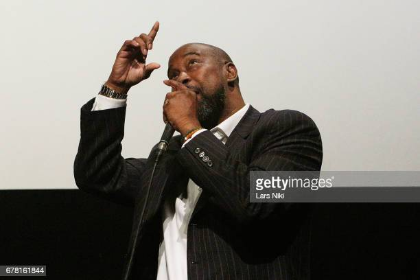 Former NBA Player Kenny Anderson on stage during the MR CHIBBS Opening Night screening and QA at the IFC Center on May 3 2017 in New York City