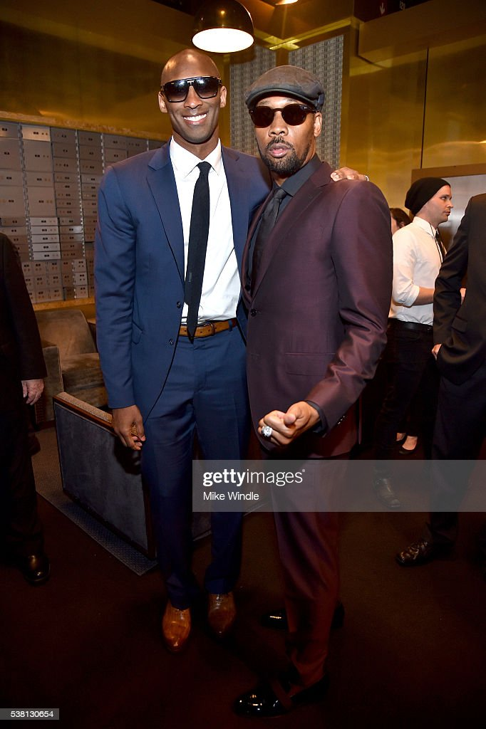 Former NBA player Kobe Bryant and musician RZA attend Spike TV's 10th Annual Guys Choice Awards at Sony Pictures Studios on June 4 2016 in Culver...