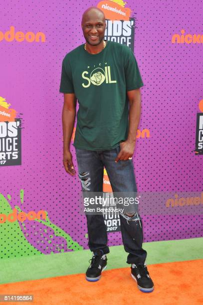 Former NBA player Lamar Odom attends Nickelodeon Kids' Choice Sports Awards 2017 at Pauley Pavilion on July 13 2017 in Los Angeles California