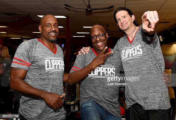 Former NBA player Lamond Murray Gary Grant and Cherokee Parks pose for a photo during the LA Clippers Foundation Hosts Annual Charity Basketbowl...