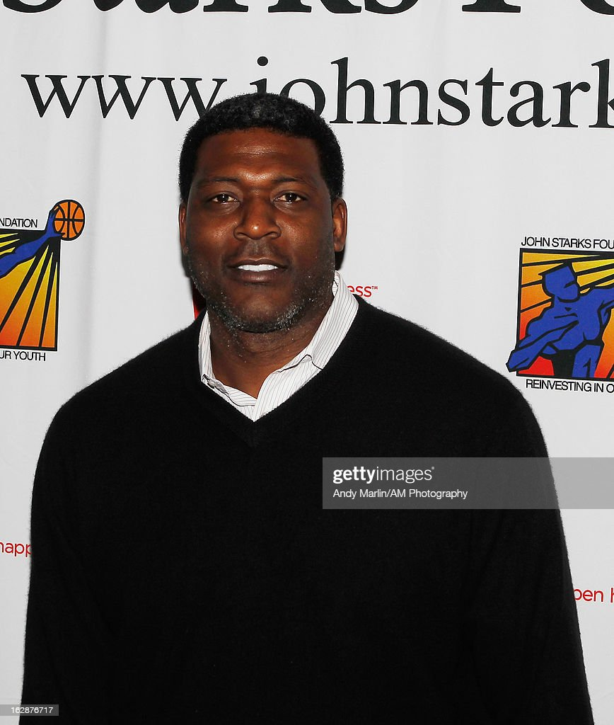Former NBA player Larry Johnson poses for a photo during the John Starks Foundation Celebrity Bowling Tournament on February 25, 2013 in New York City.