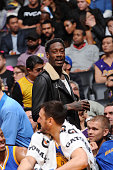 Former NBA player Larry Sanders attends the game between the Golden State Warriors and the Los Angeles Lakers at STAPLES Center on January 05 2016 in...
