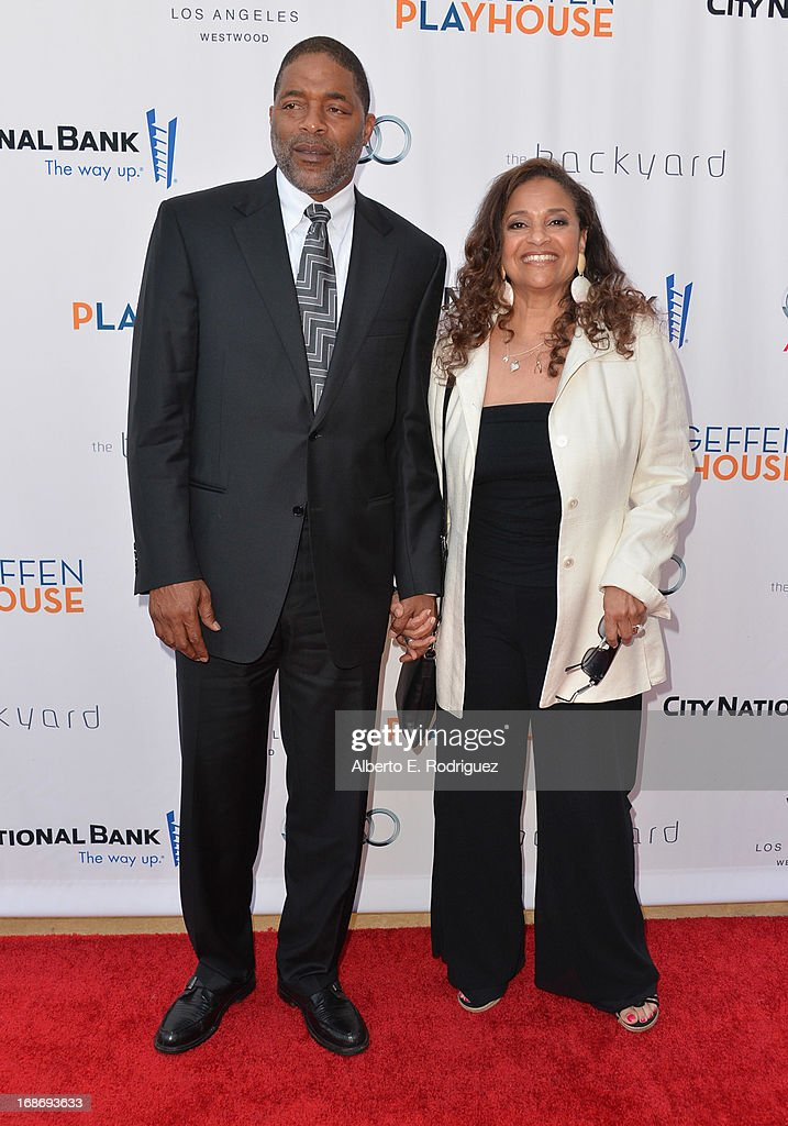 Former NBA player <a gi-track='captionPersonalityLinkClicked' href=/galleries/search?phrase=Norm+Nixon&family=editorial&specificpeople=538782 ng-click='$event.stopPropagation()'>Norm Nixon</a> and actress <a gi-track='captionPersonalityLinkClicked' href=/galleries/search?phrase=Debbie+Allen&family=editorial&specificpeople=210660 ng-click='$event.stopPropagation()'>Debbie Allen</a> arrive to The Geffen Playhouse's Annual 'Backstage at the Geffen' Gala at Geffen Playhouse on May 13, 2013 in Los Angeles, California.