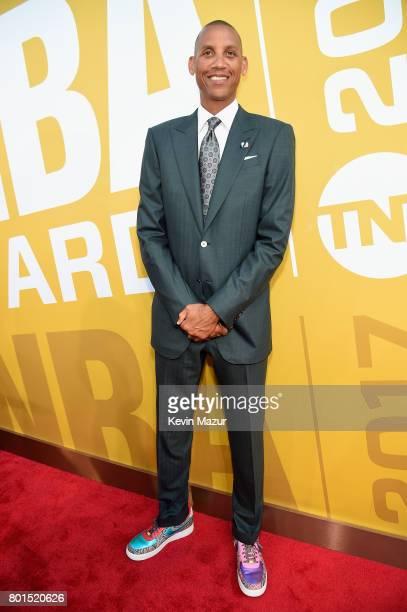 Former NBA player Reggie Miller attends the 2017 NBA Awards Live on TNT on June 26 2017 in New York New York 27111_002