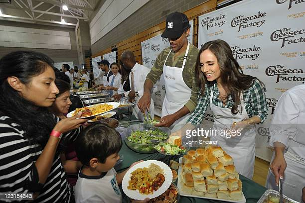 Former NBA player Rick Rox and actress Eliza Dushku join The Cheesecake Factory to kickoff Feeding America's Hunger Action Month by catering a...