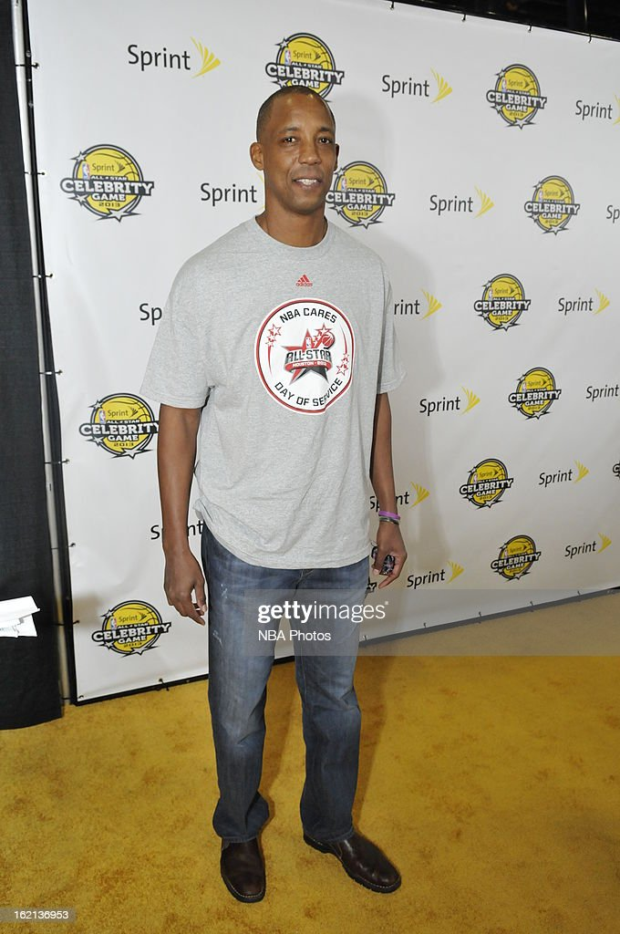 Former NBA Player Sean Elliott poses on the red carpet prior to the Sprint NBA All-Star Celebrity Game in Sprint Arena at Jam Session during the NBA All-Star Weekend on February 15, 2013 at the George R. Brown Convention Center in Houston, Texas.