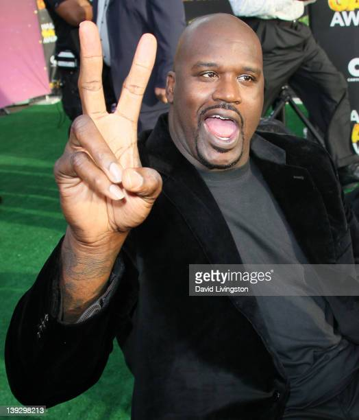 Former NBA player Shaquille O'Neal attends the 2nd Annual Cartoon Network Hall of Game Awards at Barker Hangar on February 18 2012 in Santa Monica...