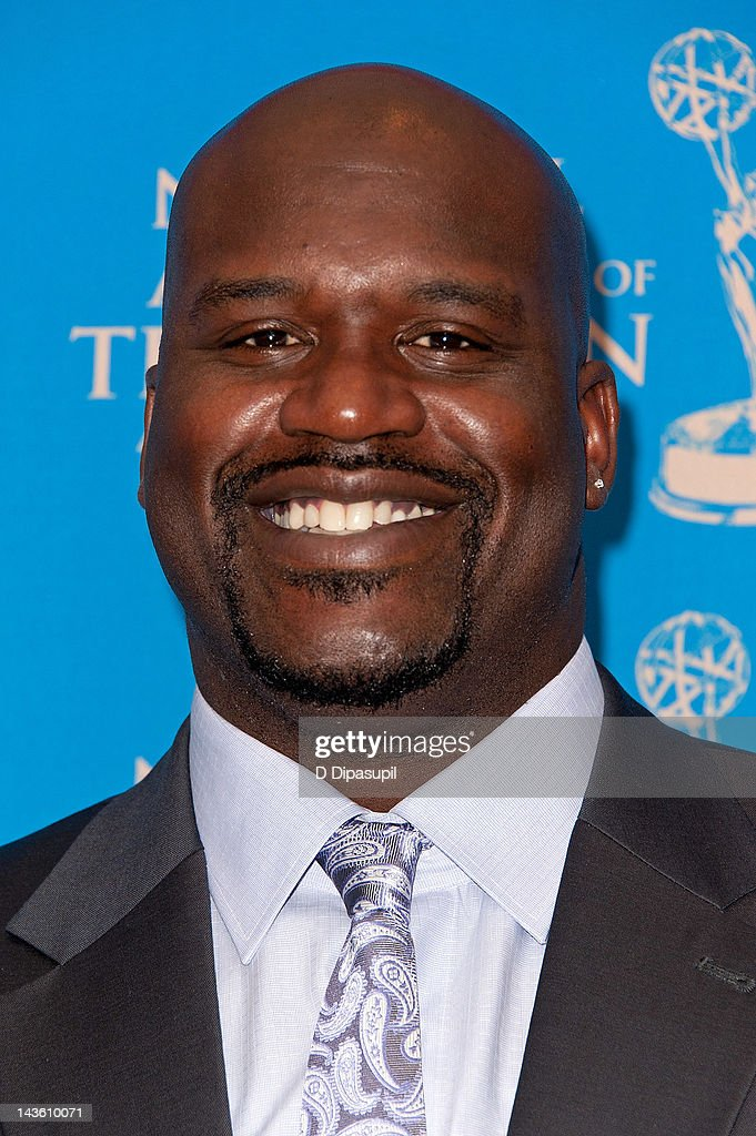 Former NBA player Shaquille O'Neal attends the 33rd annual Sports Emmy awards at Frederick P Rose Hall Jazz at Lincoln Center on April 30 2012 in New...