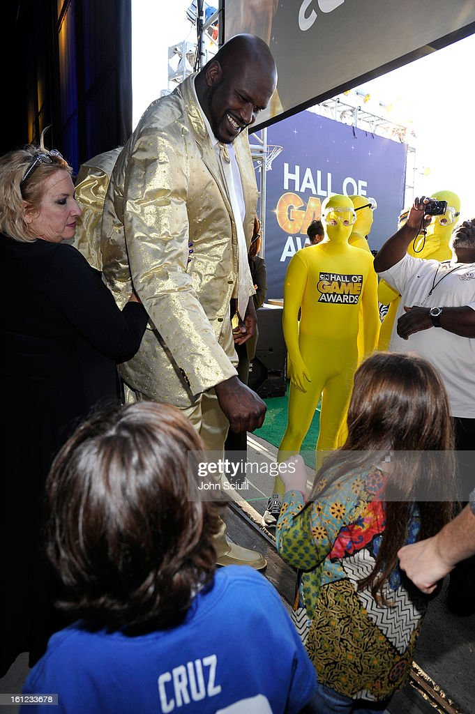 Former NBA player <a gi-track='captionPersonalityLinkClicked' href=/galleries/search?phrase=Shaquille+O%27Neal&family=editorial&specificpeople=201463 ng-click='$event.stopPropagation()'>Shaquille O'Neal</a> attends the Third Annual Hall of Game Awards hosted by Cartoon Network at Barker Hangar on February 9, 2013 in Santa Monica, California. 23270_004_JS_0045.JPG