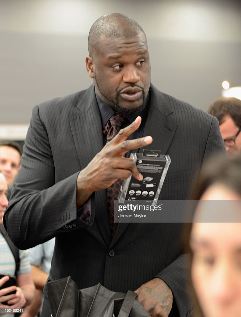 Former NBA player <a gi-track='captionPersonalityLinkClicked' href=/galleries/search?phrase=Shaquille+O%27Neal&family=editorial&specificpeople=201463 ng-click='$event.stopPropagation()'>Shaquille O'Neal</a> is seen during the 2013 SXSW Music, Film + Interactive Festival on March 10, 2013 in Austin, Texas.