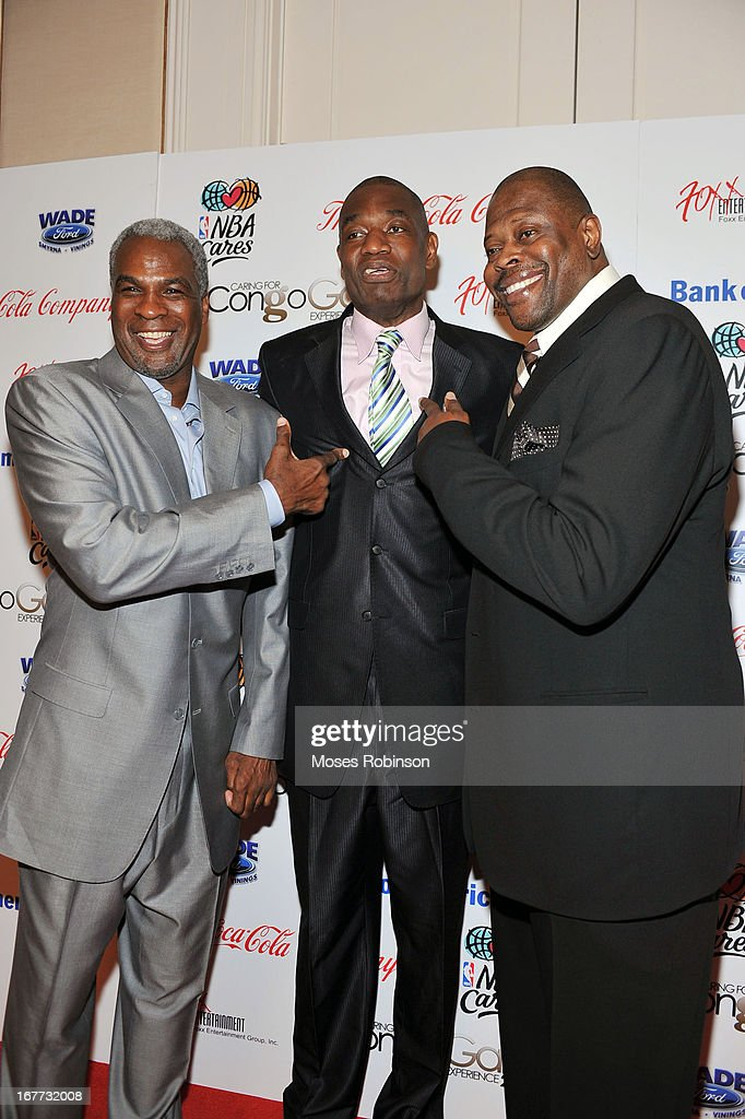Former NBA players <a gi-track='captionPersonalityLinkClicked' href=/galleries/search?phrase=Charles+Oakley&family=editorial&specificpeople=213241 ng-click='$event.stopPropagation()'>Charles Oakley</a>, <a gi-track='captionPersonalityLinkClicked' href=/galleries/search?phrase=Dikembe+Mutombo&family=editorial&specificpeople=201659 ng-click='$event.stopPropagation()'>Dikembe Mutombo</a> and <a gi-track='captionPersonalityLinkClicked' href=/galleries/search?phrase=Patrick+Ewing&family=editorial&specificpeople=202881 ng-click='$event.stopPropagation()'>Patrick Ewing</a> attend the Care For Congo Gala 2013 at the St. Regis Hotel on April 13, 2013 in Atlanta, Georgia.