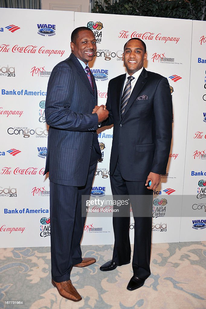 Former NBA players Theo Ratliff and Steve Smith attends the Care For Congo Gala 2013 at the St. Regis Hotel on April 13, 2013 in Atlanta, Georgia.