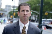 Former NBA referee Tim Donaghy walking to Federal Court in Brooklyn