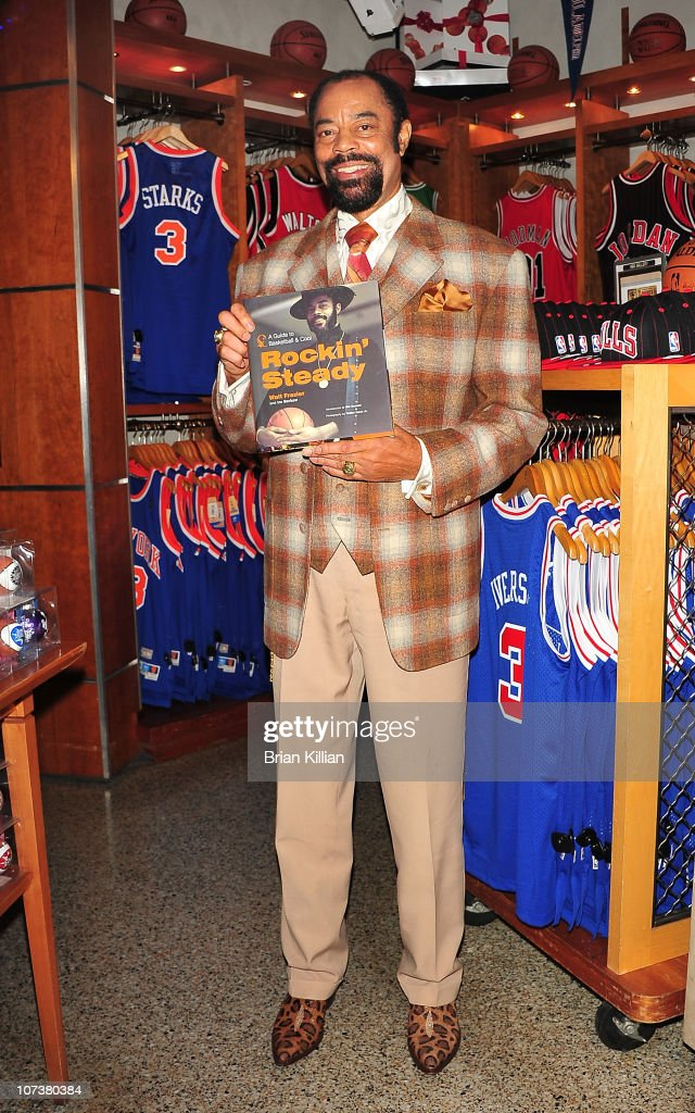 Former NBA star and current New York Knicks broadcaster Walt 'Clyde' Frazier promotes Rockin' Steady A Guide to Basketball Cool at NBA Store on...