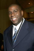 Former NBA star Magic Johnson attends 2006/2007 TNT And TBS UpFront Reception at Nick Stef's Steakhouse on April 11 2006 in New York City
