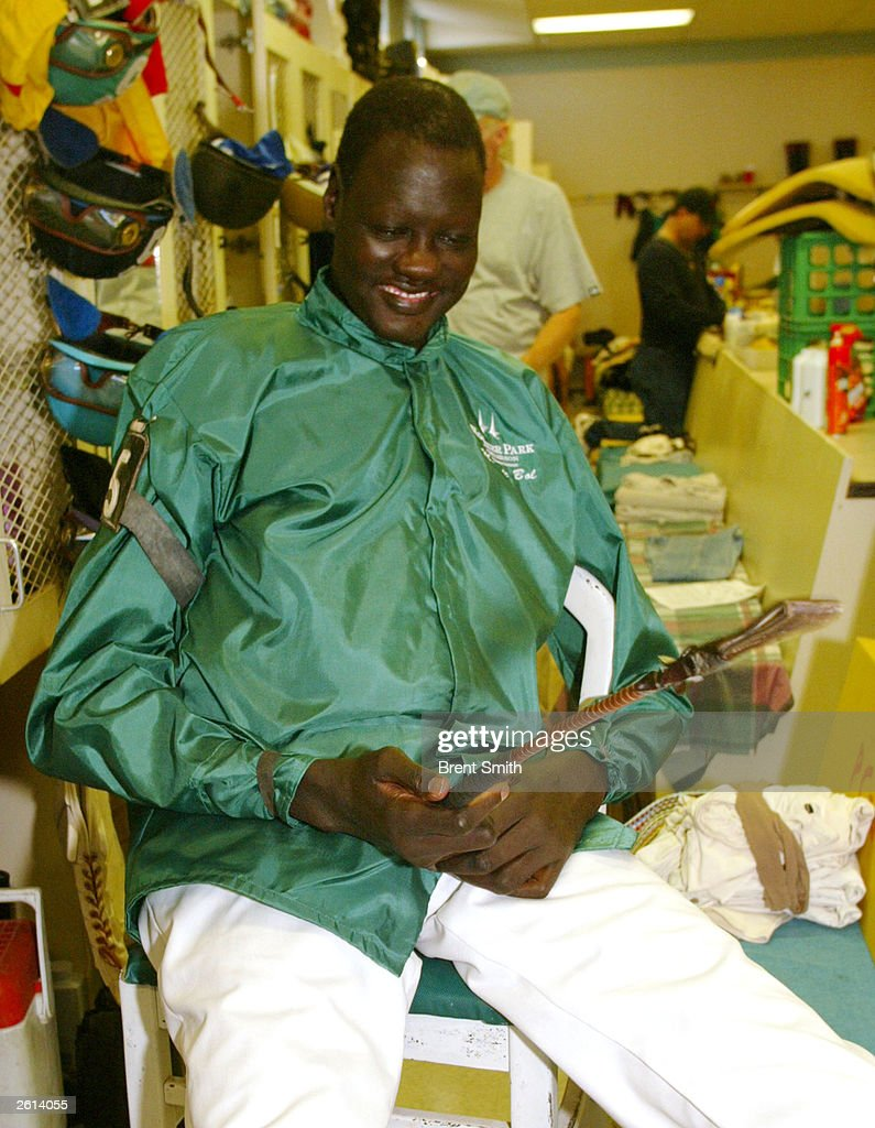 Manute Bol Be es Tallest Jockey Ever Licensed In Indiana s