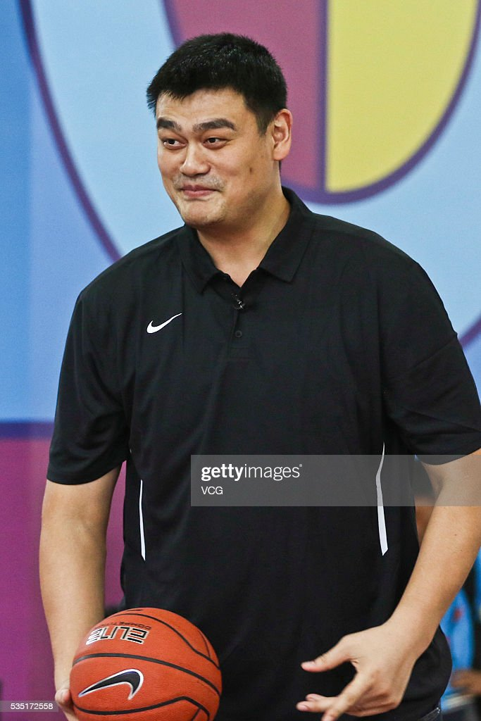 Former NBA star <a gi-track='captionPersonalityLinkClicked' href=/galleries/search?phrase=Yao+Ming&family=editorial&specificpeople=201476 ng-click='$event.stopPropagation()'>Yao Ming</a> attends a basketball activity on May 29, 2016 in Shanghai, China.