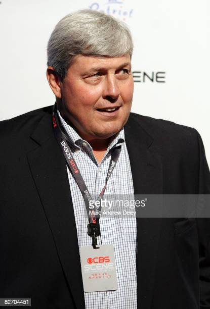 Former New England Patriot John Hannah attends the grand opening of the CBS Scene Restaurant Bar at Patriot Place on September 6 2008 in Foxboro...
