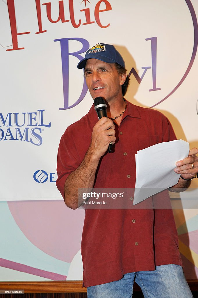 Former New England Patriots Quarterback <a gi-track='captionPersonalityLinkClicked' href=/galleries/search?phrase=Doug+Flutie&family=editorial&specificpeople=184503 ng-click='$event.stopPropagation()'>Doug Flutie</a> attends the10th Annual Flutie Bowl to strike out autism at KINGS on January 28, 2013 in Boston, Massachusetts.