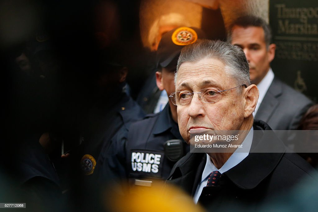 Former New York Assembly Speaker Sheldon Silver exits federal court in Lower Manhattan on May 3, 2016 in New York City. Former New York state assembly speaker Silver was sentenced to 12 years in prison for corruption schemes that federal officials said captured $5 million over a span of two decades