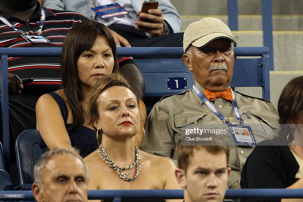 Former New York City mayor David Dinkins (R) attends Day Seven of the 2013 US Open at USTA Billie Jean King National Tennis Center on September 1, 2013 in the Flushing neighborhood of the Queens borough of New York City.