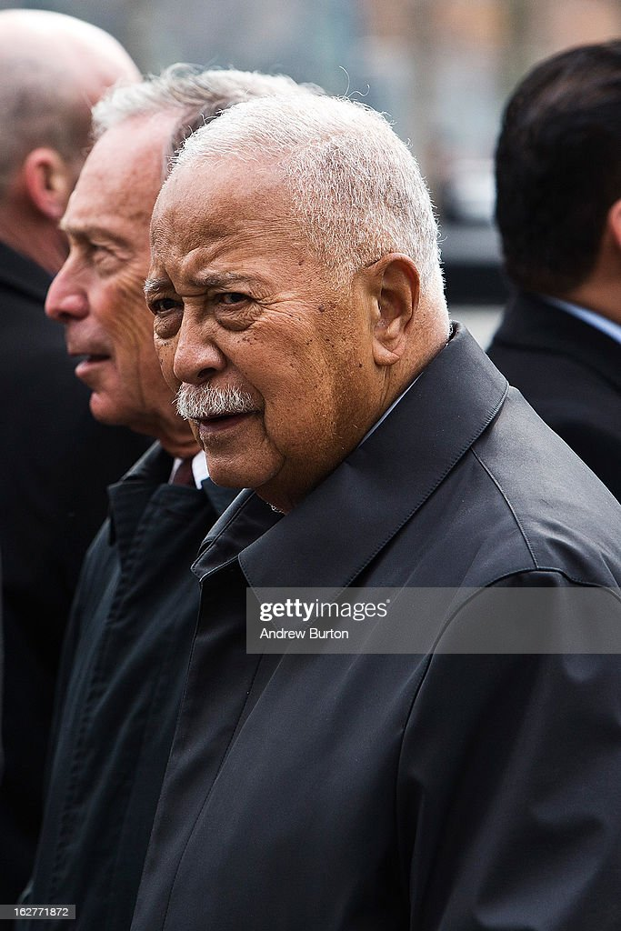 Former New York City Mayor <a gi-track='captionPersonalityLinkClicked' href=/galleries/search?phrase=David+Dinkins&family=editorial&specificpeople=171317 ng-click='$event.stopPropagation()'>David Dinkins</a> attends the 20th Anniversary Ceremony for the 1993 World Trade Center bombing at Ground Zero on February 26, 2013 in New York City. The attack, which utilized a car bomb and hit the north tower, killed six people.
