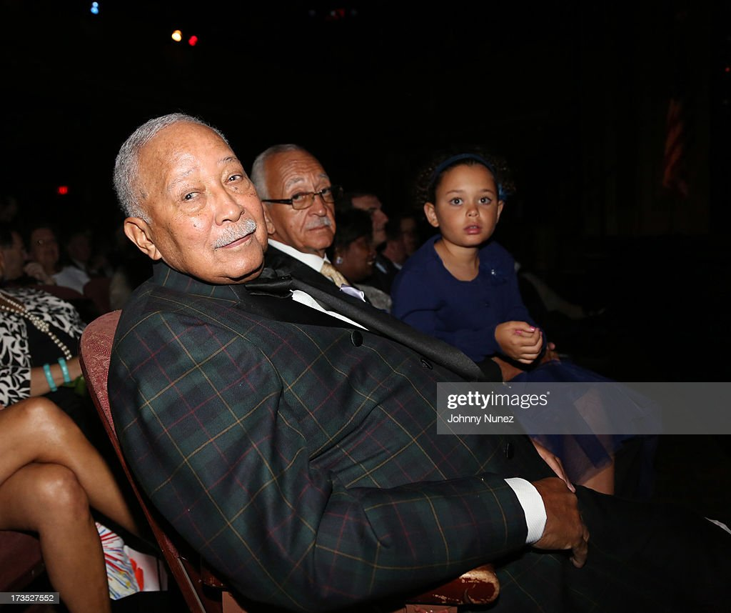Former New York City Mayor <a gi-track='captionPersonalityLinkClicked' href=/galleries/search?phrase=David+Dinkins&family=editorial&specificpeople=171317 ng-click='$event.stopPropagation()'>David Dinkins</a> attends the New York County Democratic Committee Award Ceremony at American Airlines Theater on July 15, 2013 in New York City.