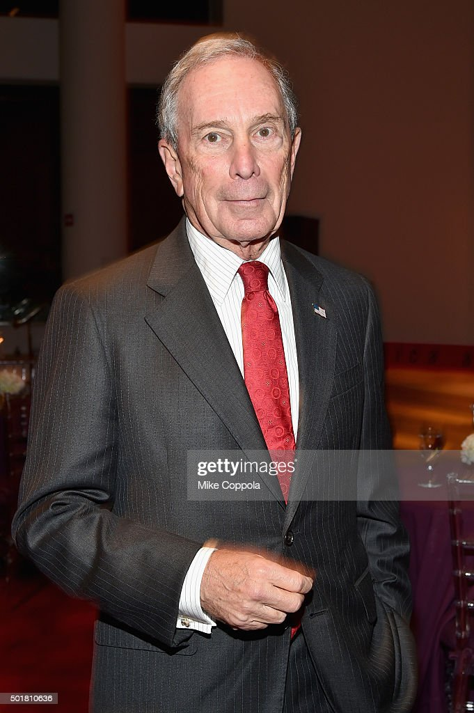 Former New York City Mayor, <a gi-track='captionPersonalityLinkClicked' href=/galleries/search?phrase=Michael+Bloomberg&family=editorial&specificpeople=171685 ng-click='$event.stopPropagation()'>Michael Bloomberg</a> attends the opening of the Mica and Ahmet Ertegun Atrium at Jazz at Lincoln Center on December 17, 2015 in New York City.