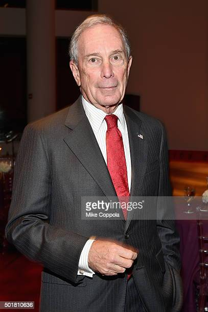 Former New York City Mayor Michael Bloomberg attends the opening of the Mica and Ahmet Ertegun Atrium at Jazz at Lincoln Center on December 17 2015...