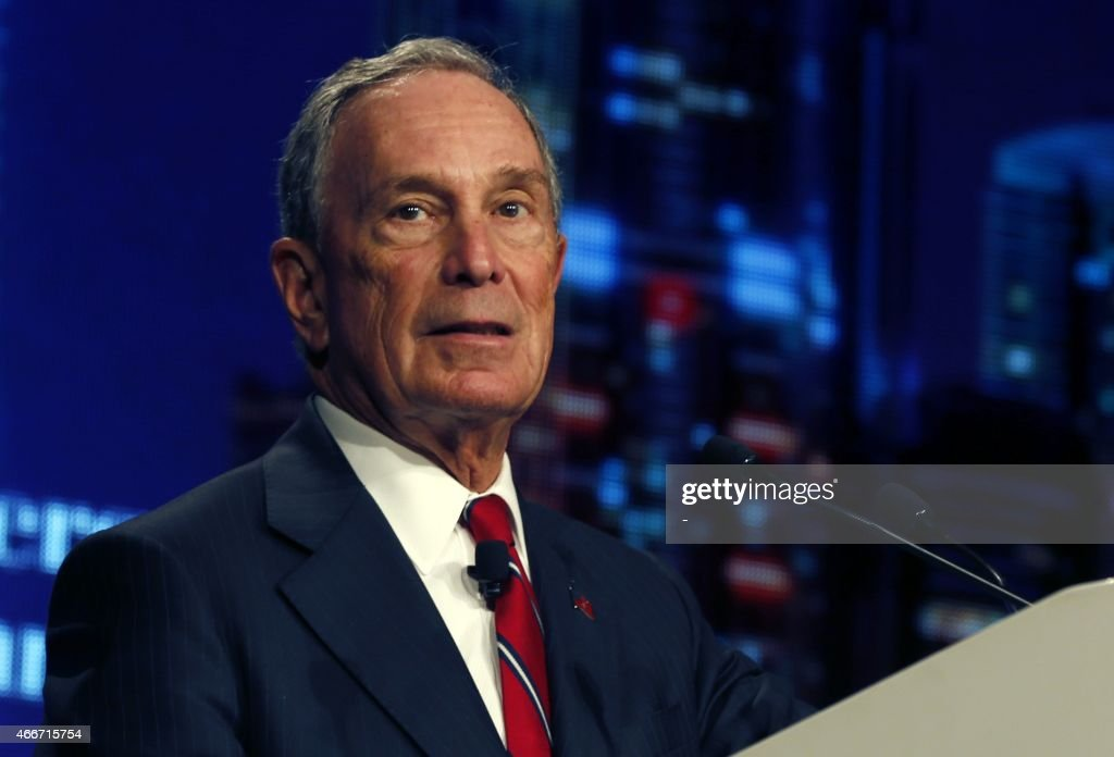 Former New York City mayor <a gi-track='captionPersonalityLinkClicked' href=/galleries/search?phrase=Michael+Bloomberg&family=editorial&specificpeople=171685 ng-click='$event.stopPropagation()'>Michael Bloomberg</a> gives a speech during a ceremony to attribute 'Philanthropies Awards for Global Tobacco Control' on the second day of the 16th World Conference on Tobacco or Health on March 18, 2015 in Abu Dhabi. Billionaire philanthropists <a gi-track='captionPersonalityLinkClicked' href=/galleries/search?phrase=Michael+Bloomberg&family=editorial&specificpeople=171685 ng-click='$event.stopPropagation()'>Michael Bloomberg</a> and Bill Gates launched the joint Anti-Tobacco Trade Litigation Fund to support developing countries passing tobacco-control laws in their legal battle with the industry giants. AFP PHOTO / STR