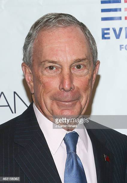 Former New York City Mayor Michael R Bloomberg attends 'Not One More' Event at Urban Zen on February 10 2015 in New York City