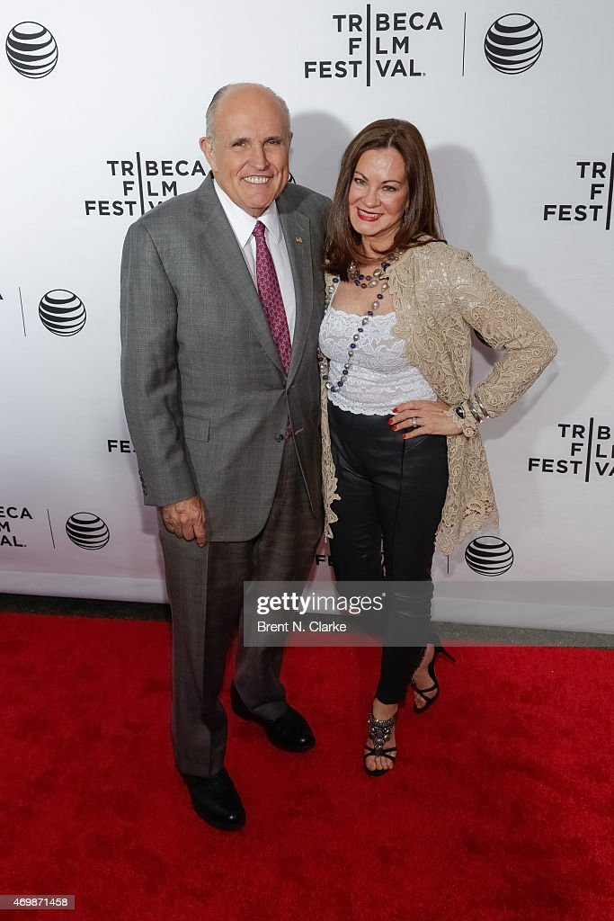 Former New York City Mayor Rudolph Giuliani and wife Judith Nathan attend the world premiere of 'Live From New York' held at The Beacon Theatre on...