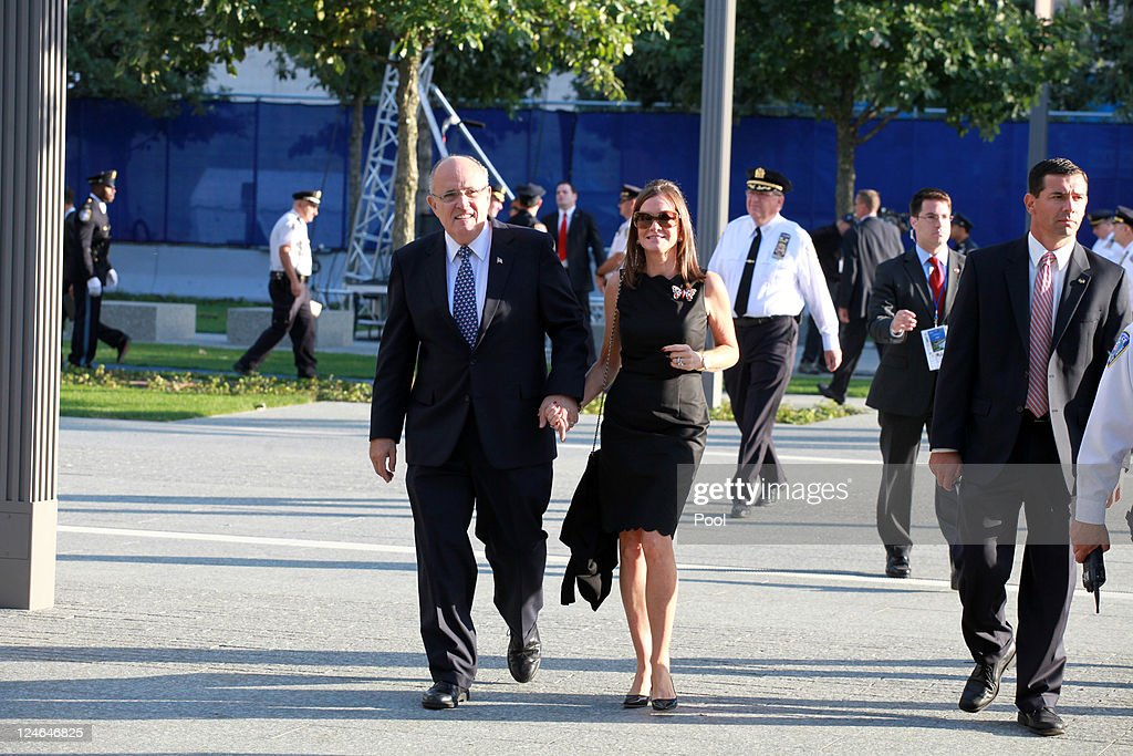 Former New York City mayor Rudy Giuliani and his wife Judith at the North Pool during the tenth anniversary ceremonies of the September 11 2001...