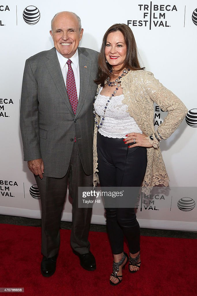 Former New York City mayor Rudy Giuliani and Judith Giuliani attend the world premiere of 'Live From New York' at The Beacon Theatre on April 15 2015...