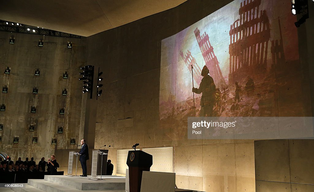 Former New York City Mayor Rudy Giuliani speaks during the opening ceremony for the National September 11 Memorial Museum at ground zero May 15, 2014 in New York City. The museum spans seven stories, mostly underground, and contains artifacts from the attack on the World Trade Center Towers on September 11, 2001 that include the 80 ft high tridents, the so-called 'Ground Zero Cross,' the destroyed remains of Company 21's New York Fire Department Engine as well as smaller items such as letter that fell from a hijacked plane and posters of missing loved ones projected onto the wall of the museum. The museum will open to the public on May 21.
