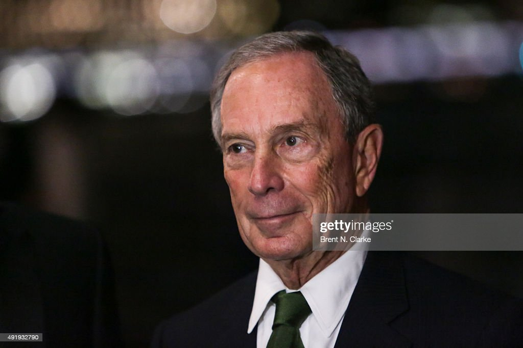 Former New York City Mayor/philanthropist and event honoree <a gi-track='captionPersonalityLinkClicked' href=/galleries/search?phrase=Michael+Bloomberg&family=editorial&specificpeople=171685 ng-click='$event.stopPropagation()'>Michael Bloomberg</a> attends the 3rd Annual Brooklyn Bridge Park Conservancy Brooklyn Black Tie Ball held at Brooklyn Bridge Park on October 8, 2015 in New York City.