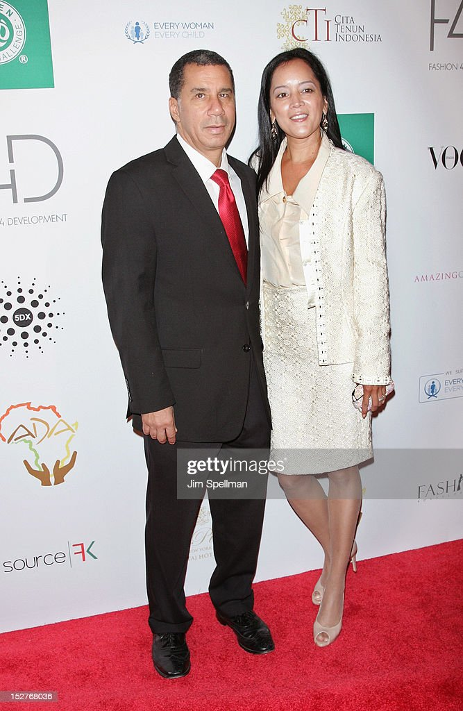 Former New York Governor <a gi-track='captionPersonalityLinkClicked' href=/galleries/search?phrase=David+Paterson+-+American+Politician&family=editorial&specificpeople=3006680 ng-click='$event.stopPropagation()'>David Paterson</a> and Cassandra Seidenfeld attend the 2nd Annual Fashion 4 Development First Ladies Luncheon at The Pierre Hotel on September 25, 2012 in New York City.