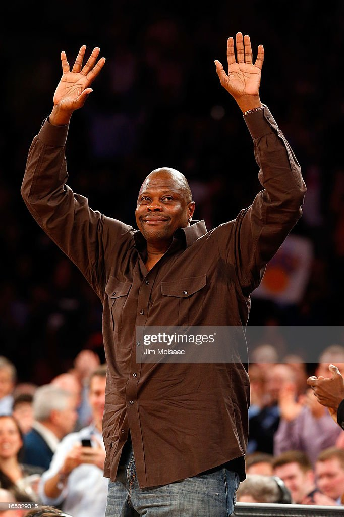 Former New York Knick Patrick Ewing attends a game between the Knicks and the Memphis Grizzlies at Madison Square Garden on March 27, 2013 in New York City. The Knicks defeated the Grizzlies 108-101.