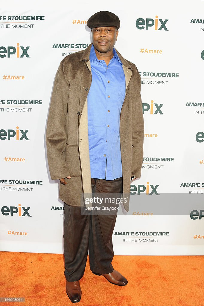 Former New York Knick Patrick Ewing attends EPIX premiere of Amar'e Stoudemire IN THE MOMENT on April 18, 2013 in New York City.