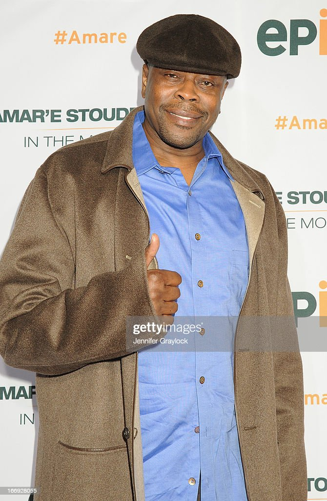 Former New York Knick <a gi-track='captionPersonalityLinkClicked' href=/galleries/search?phrase=Patrick+Ewing&family=editorial&specificpeople=202881 ng-click='$event.stopPropagation()'>Patrick Ewing</a> attends EPIX premiere of Amar'e Stoudemire IN THE MOMENT on April 18, 2013 in New York City.