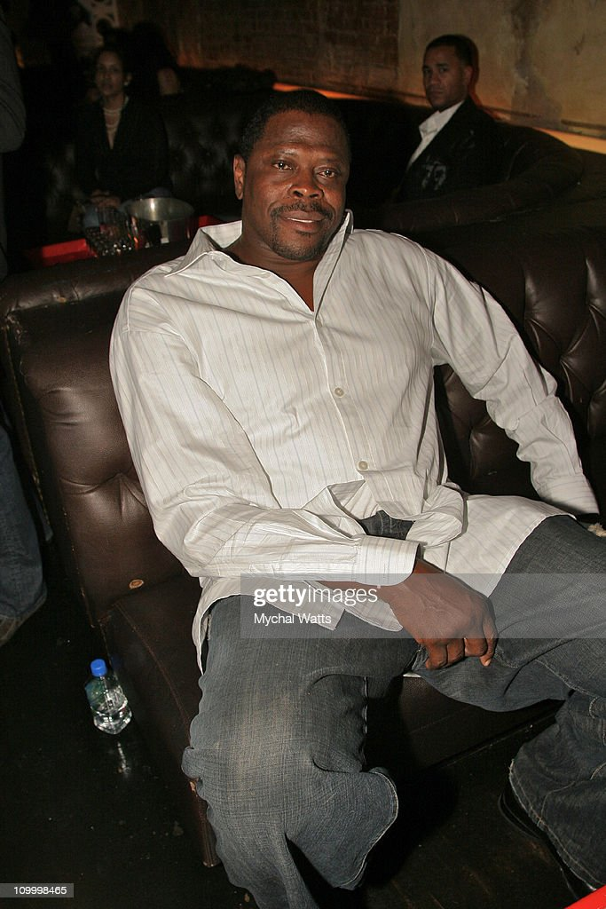 Former New York Knick <a gi-track='captionPersonalityLinkClicked' href=/galleries/search?phrase=Patrick+Ewing&family=editorial&specificpeople=202881 ng-click='$event.stopPropagation()'>Patrick Ewing</a> during New York Fashion Week Spring 2007 StyleLounge - B. Michael Signature Collection - After Party at PM in New York City, New York, United States.