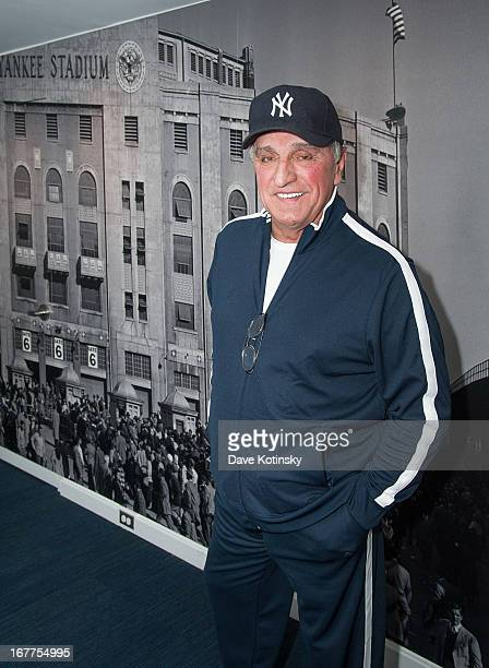 Former New York Yankee Joe Pepitone attends the press conference announcing Mickey Mantle Signed Contract Auction To Assist Hurricane Sandy New...